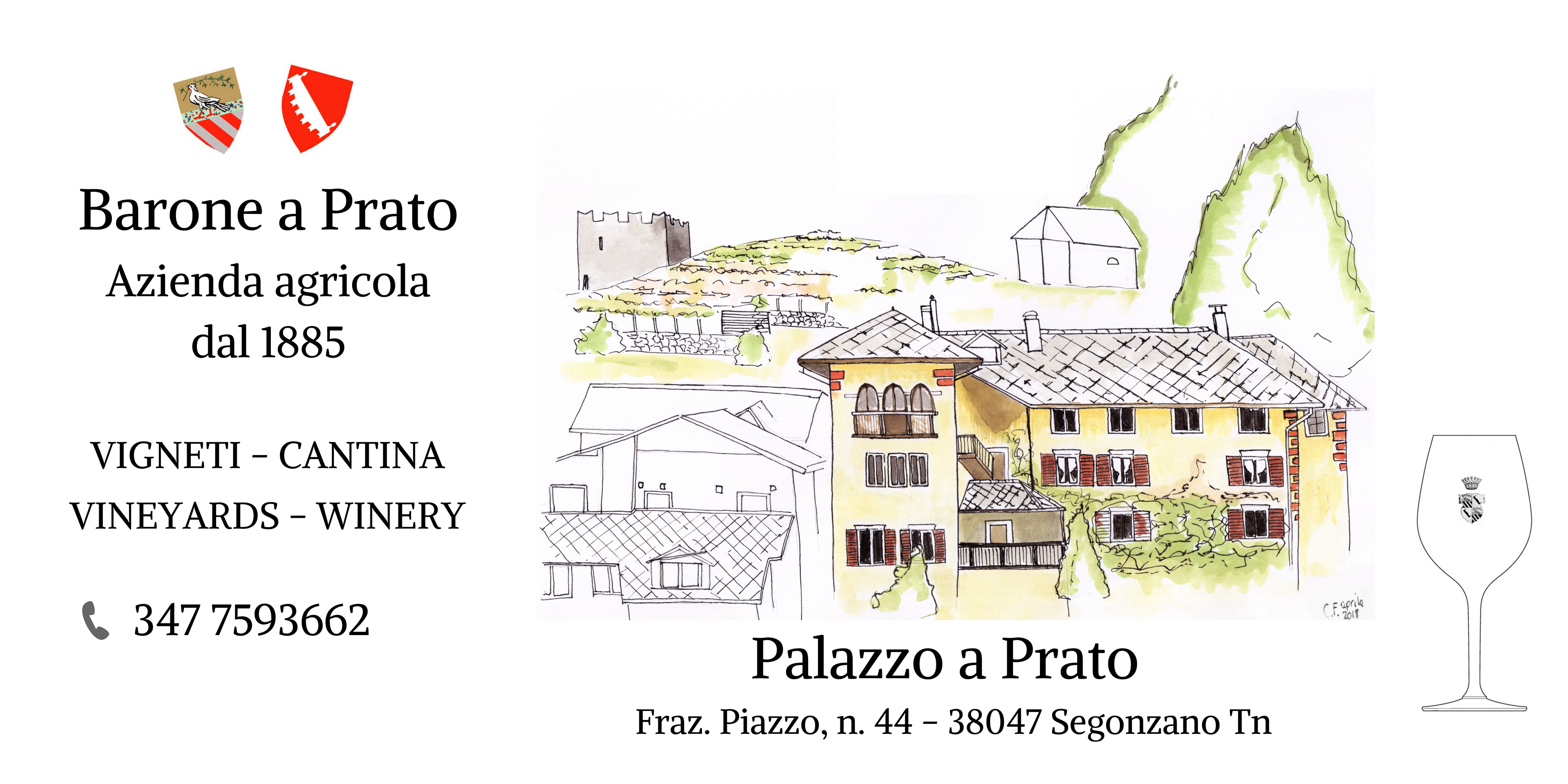 insegna cantina Barone a Prato